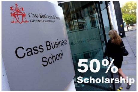 50% Scholarship at City University, London