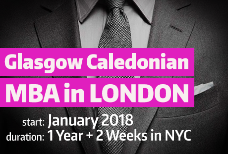 Glasgow Caledonian MBA in London
